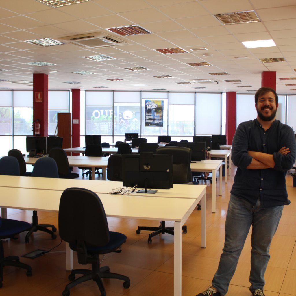 David Arroyo Lopez in the empty office