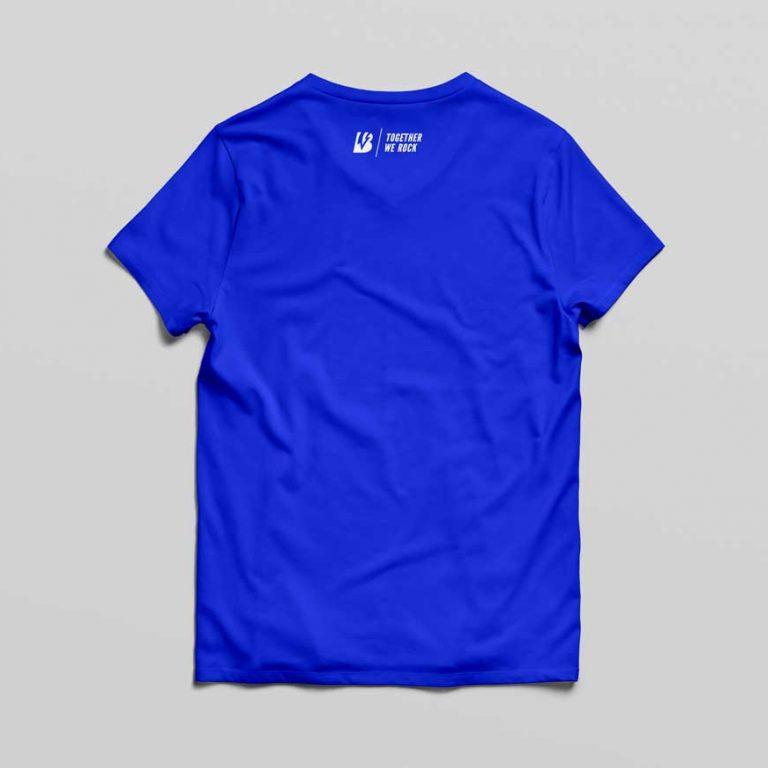 T-Shirt TOGETHER WE ROCK in blue